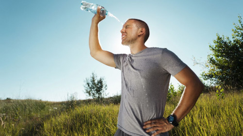 Keeping hydrated while exercising