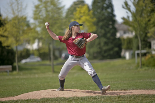 Pitcher in Softball