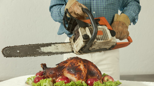 Turkey and Chainsaw